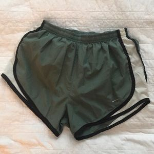 Nike Tempo Shorts in Olive Green
